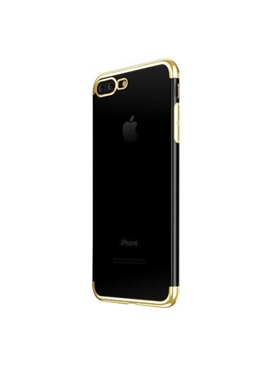 Microsonic iPhone 7 Plus Kılıf Skyfall Transparent Clear  Altın